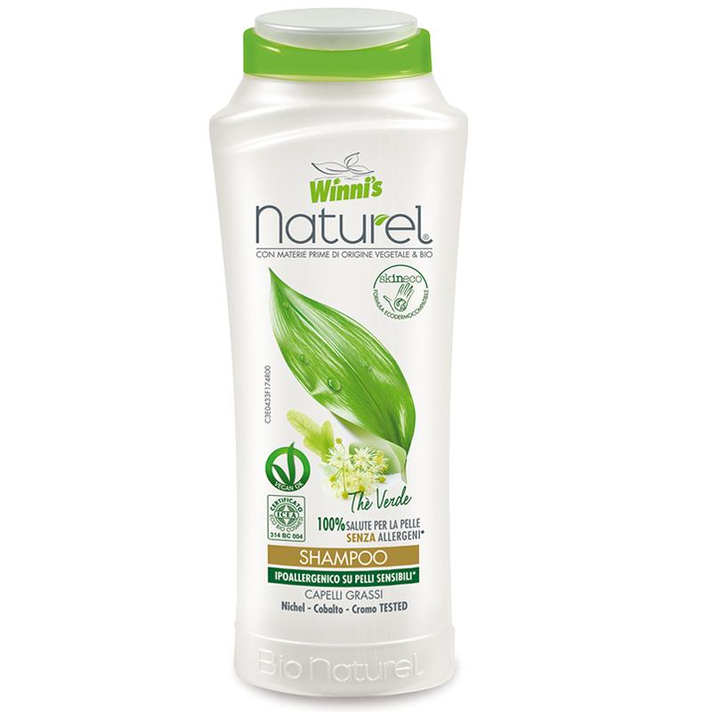 winni's Naturel Shampoo The verde per capelli grassi 250ml