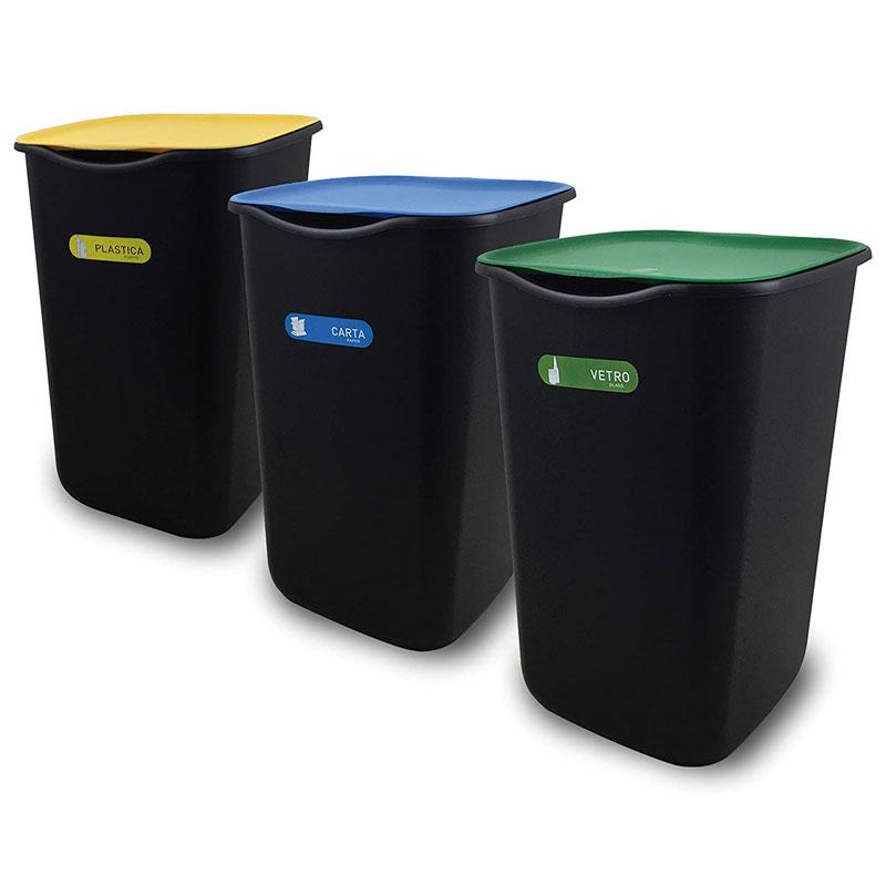 bidoni per rifiuti differenziata